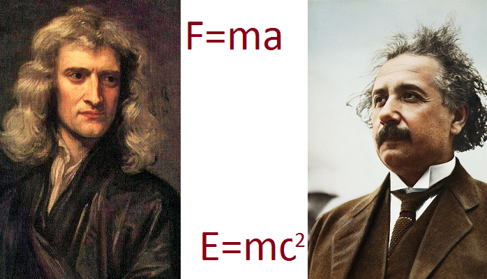 Images of Newton and Einstein
