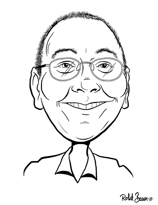 Caricature of Mike Lynch (Dec. 2011)